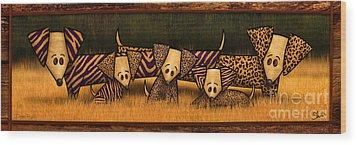 Doxie Pride Wood Print by Shevon Johnson