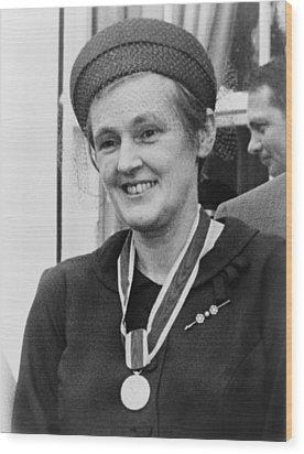 Dr. Frances O. Kelsey, Wearing Wood Print by Everett