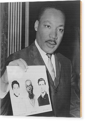 Dr. Martin Luther King 1929-1968 Wood Print by Everett