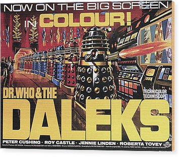 Dr. Who And The Daleks, Poster, 1965 Wood Print by Everett