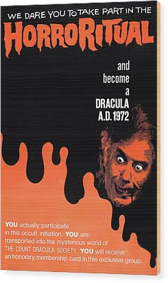 Dracula A.d. 1972, Lower Right Wood Print by Everett