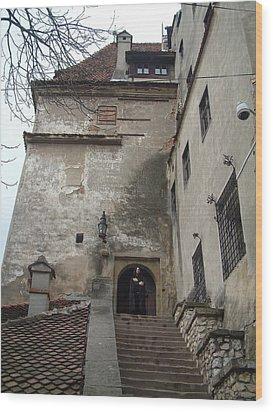 Dracula Castle Bran Transylvania Wood Print by Mircea Veleanu