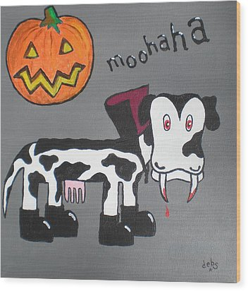 Wood Print featuring the painting Dracula by Sheep McTavish