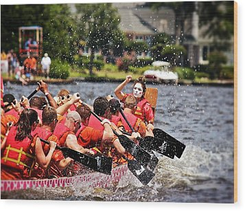 Wood Print featuring the photograph Dragon Boat Regatta  by Jim Albritton