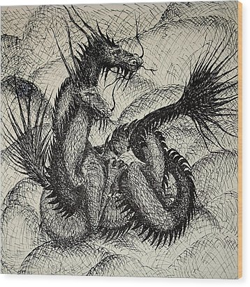 Dragon Love Wood Print