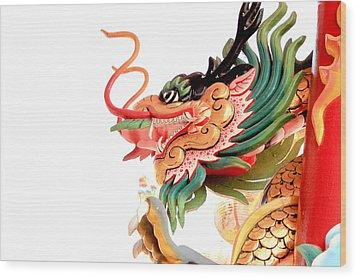 Dragon Wood Print by Panyanon Hankhampa