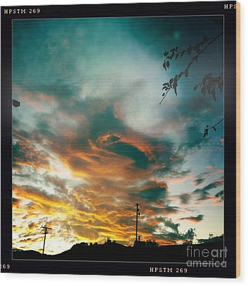 Wood Print featuring the photograph Drama In The Sky by Nina Prommer