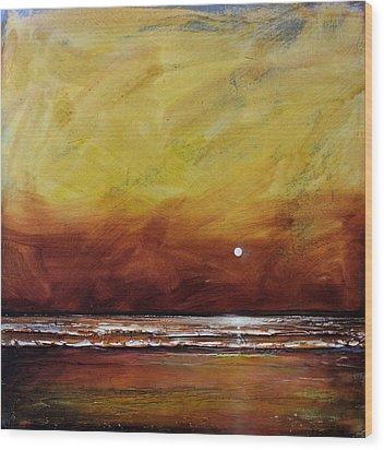 Drama Ocean Wood Print by Toni Grote
