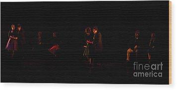Drama Of Life Wood Print by Venura Herath
