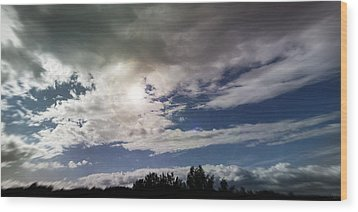 dramatic clouds V Wood Print by Nafets Nuarb