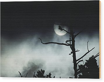 Dramatic Scene Of A Dead Tree Wood Print by Michael S. Quinton