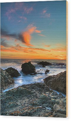 Dramatic Sunset Wood Print by Chasethesonphotography