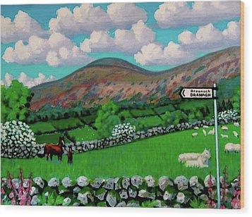 Dranagh Lane Wood Print by Frank Strasser