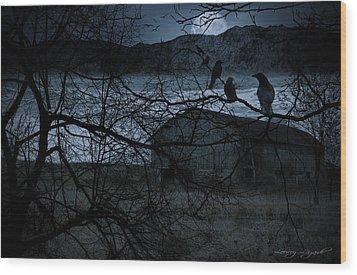 Dreadful Silence Wood Print by Lourry Legarde