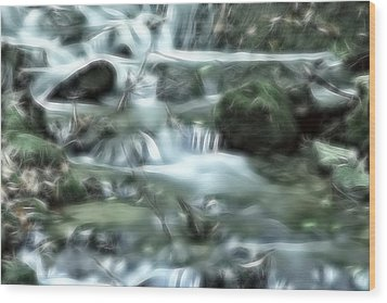 Dream Forest River Wood Print by Odon Czintos