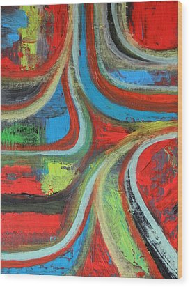 Wood Print featuring the painting Dream Highway by Everette McMahan jr