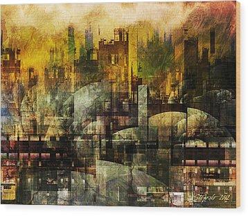 Dream In A Dream II Wood Print