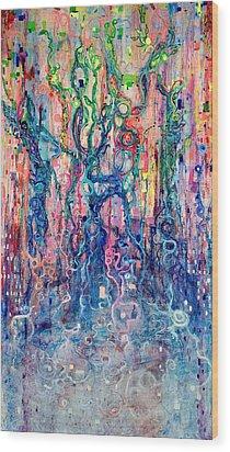 Dream Of Our Souls Awake Wood Print by Regina Valluzzi