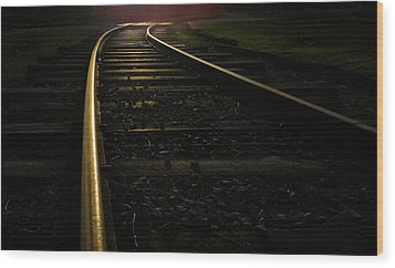 Wood Print featuring the photograph Dream Rails by Brian Hughes