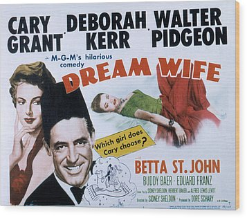 Dream Wife, From Left Deborah Kerr Wood Print by Everett