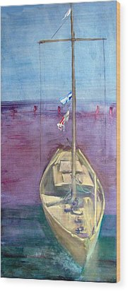 Dreamboat Wood Print