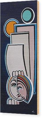 Dreamer Blue Wood Print by Valerie Wolf