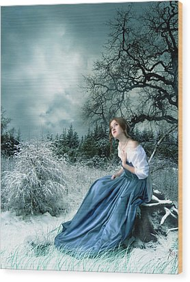 Dreamer Wood Print by Julie L Hoddinott