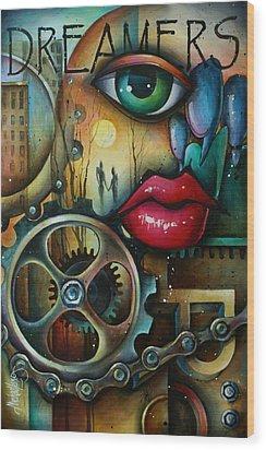 Dreamers 3 Wood Print by Michael Lang
