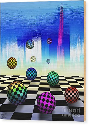 Wood Print featuring the digital art Dreaming Chess by Rosa Cobos