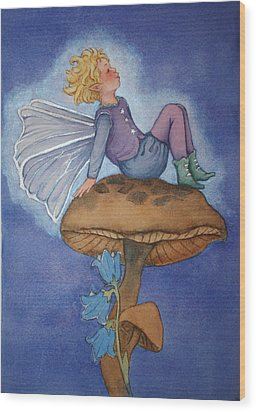 Dreaming Fairy Wood Print by Leslie Redhead
