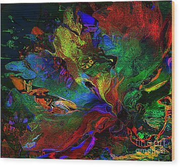 Dreamscape Abstract Number Five Wood Print by Doris Wood