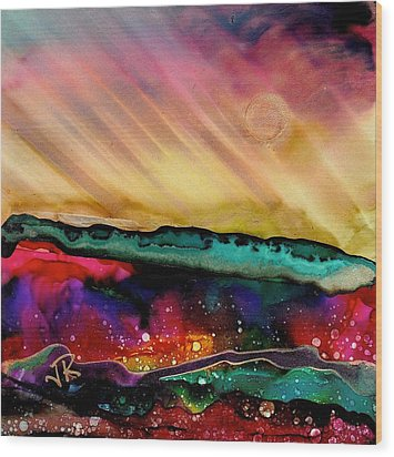 Dreamscape No. 190 Wood Print by June Rollins