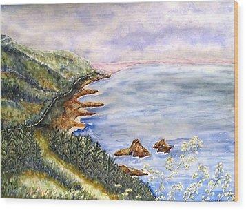 Dreamy Coast Wood Print by DJ Laughlin