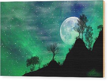 Dreamy Night Wood Print by Anthony Citro