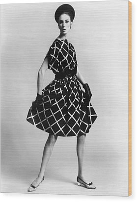 Dress By Pauline Trigere. Short Wood Print by Everett