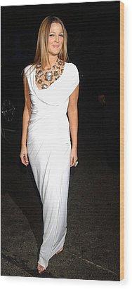 Drew Barrymore Wearing A Donna Karan Wood Print by Everett