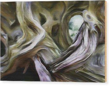 Driftwood Window Wood Print by Suni Roveto