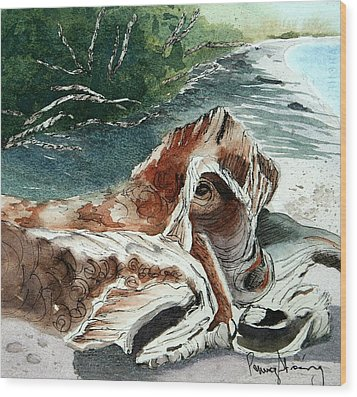 Driftwood-wisconsin Point Wood Print
