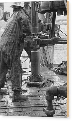 Drilling For Gold Wood Print by Jason Drake