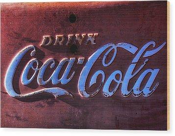 Drink Coca Cola Wood Print by Garry Gay