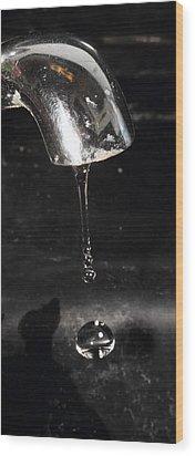 Wood Print featuring the photograph Drip Drip Drip by Charles Dana