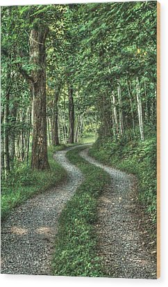 Driveway Out Wood Print by Heavens View Photography
