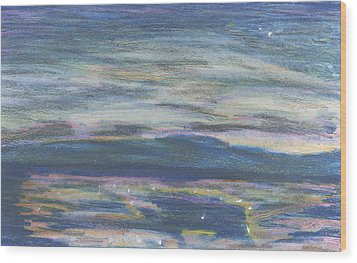 Wood Print featuring the pastel Driving By Utica by Denny Morreale
