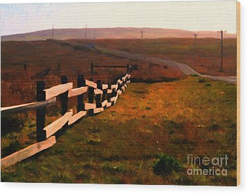 Driving Down The Lonely Highway . Study 2 . Painterly Wood Print by Wingsdomain Art and Photography