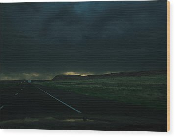 Driving Rain Number One Wood Print