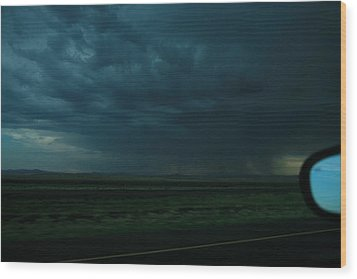 Wood Print featuring the photograph Driving Rain Number Two by Lon Casler Bixby