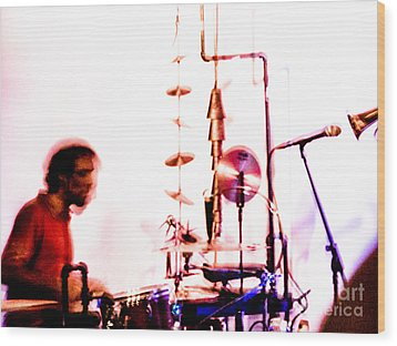 Droid - Drums Amir Ziv Wood Print by Jim DeLillo