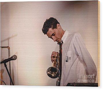 Droid- Jordan Mcclean On Trumpet Wood Print by Jim DeLillo