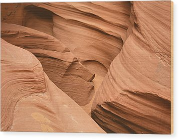 Drowning In The Sand - Antelope Canyon Az Wood Print by Christine Till