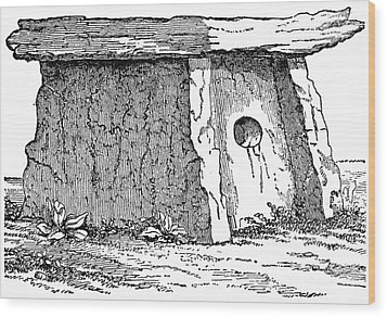 Druidic Megalith Wood Print by Granger